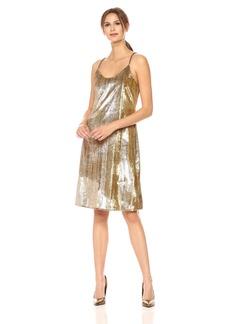 Cynthia Rowley Women's Lame Slip Dress