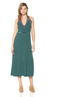 Cynthia Rowley Women's Lisbon Striped Halter Dress  L