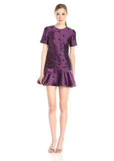 Cynthia Rowley Women's Makado Box Dress with Flounce Skirt