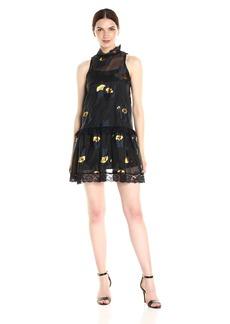 Cynthia Rowley Women's Metallic Rosebuds Dress  S