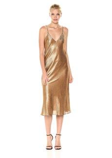 Cynthia Rowley Women's Metallic Slip Dress  M