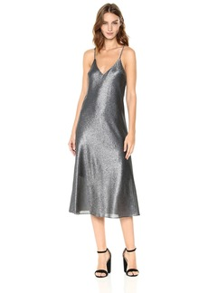 Cynthia Rowley Women's Metallic Slip Dress  M