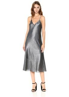 Cynthia Rowley Women's Metallic Slip Dress  S