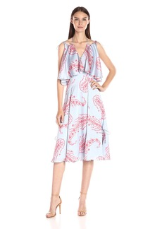 Cynthia Rowley Women's Midi Dress with Popover Detail