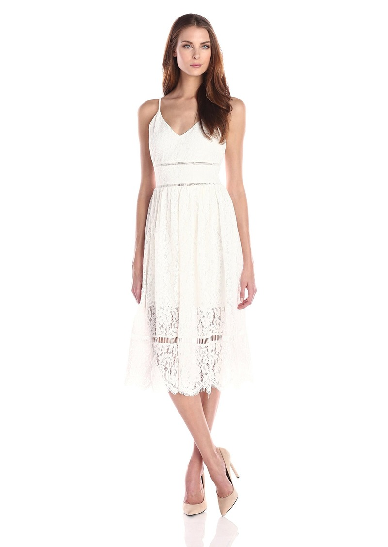 Cynthia Rowley Women's Midi Lace Dress