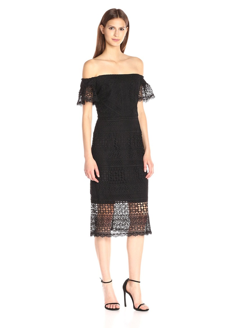 Cynthia Rowley Women's Off the Shoulder Fitted Lace Dress