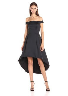 Cynthia Rowley Women's Off the Shoulder High-Low Dress