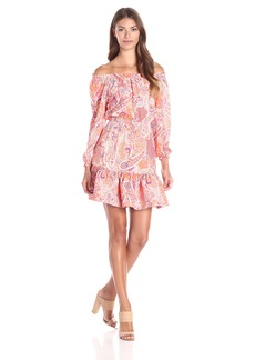 Cynthia Rowley Women's Off The Shoulder Printed Dress