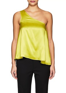 Cynthia Rowley Women's One-Shoulder Silk Swing Top