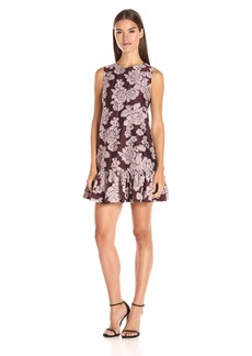 Cynthia Rowley Women's Oversized Sleeveless Dress with Bottom Ruffle