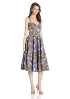 Cynthia Rowley Women's Paradise Printed Tea Length Dress