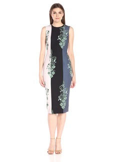 Cynthia Rowley Women's Printed Midi Stretch Crepe Dress