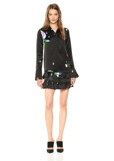 Cynthia Rowley Women's Printed Silk Shirt Dress