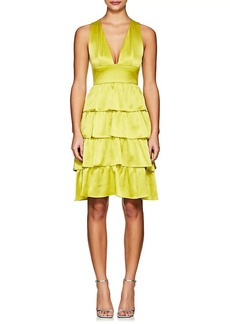 Cynthia Rowley Women's Ruffle Silk Sleeveless Dress
