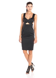 Cynthia Rowley Women's Satin Dress with Cut Outs