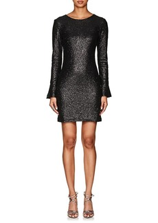 Cynthia Rowley Women's Sequined Long-Sleeve Dress