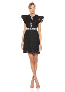 Cynthia Rowley Women's Short Sleeve Lace Dress