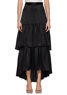 Cynthia Rowley Women's Silk Tiered Maxi Skirt