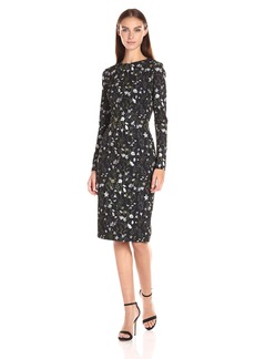 Cynthia Rowley Women's Sleeve Midi Printed Dress