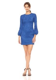Cynthia Rowley Women's Suede Bell Sleeve Dress