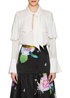 Cynthia Rowley Women's Tieneck Silk Blouse