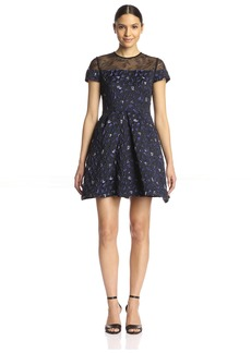 Cynthia Rowley Women's Violet Jacquard Fit-and-Flare Dress   US