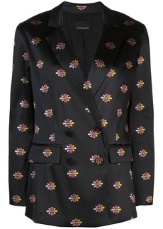Cynthia Rowley double breasted jacquard blazer