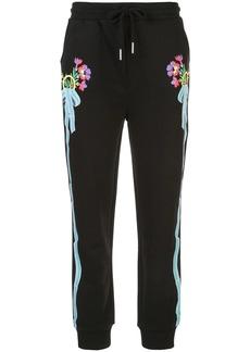 Cynthia Rowley Dylana ribbon stripe track trousers