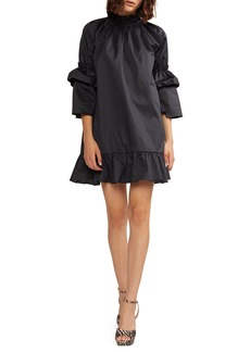 Cynthia Rowley Eden 3/4-Sleeve Mini Flounce Dress