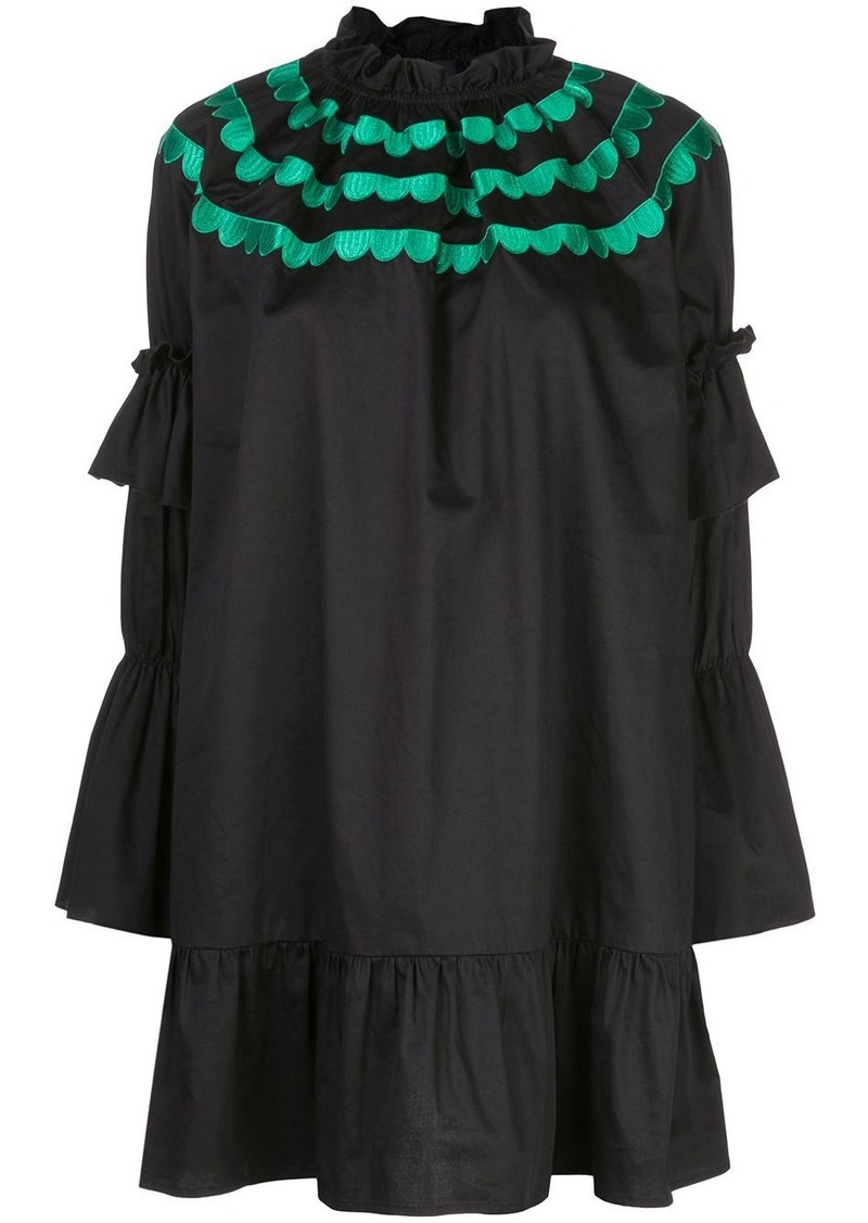 Cynthia Rowley Eden scalloped embroidered dress