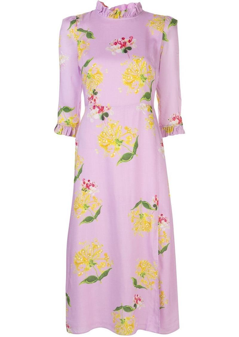 Cynthia Rowley Elena ruffled-neck dress