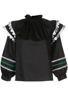 Cynthia Rowley Ellia puff-sleeves blouse