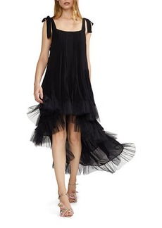 Cynthia Rowley Evelyn Tiered Ruffle High-Low Dress