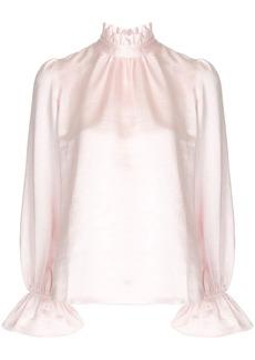 Cynthia Rowley Ezra ruffle neck blouse