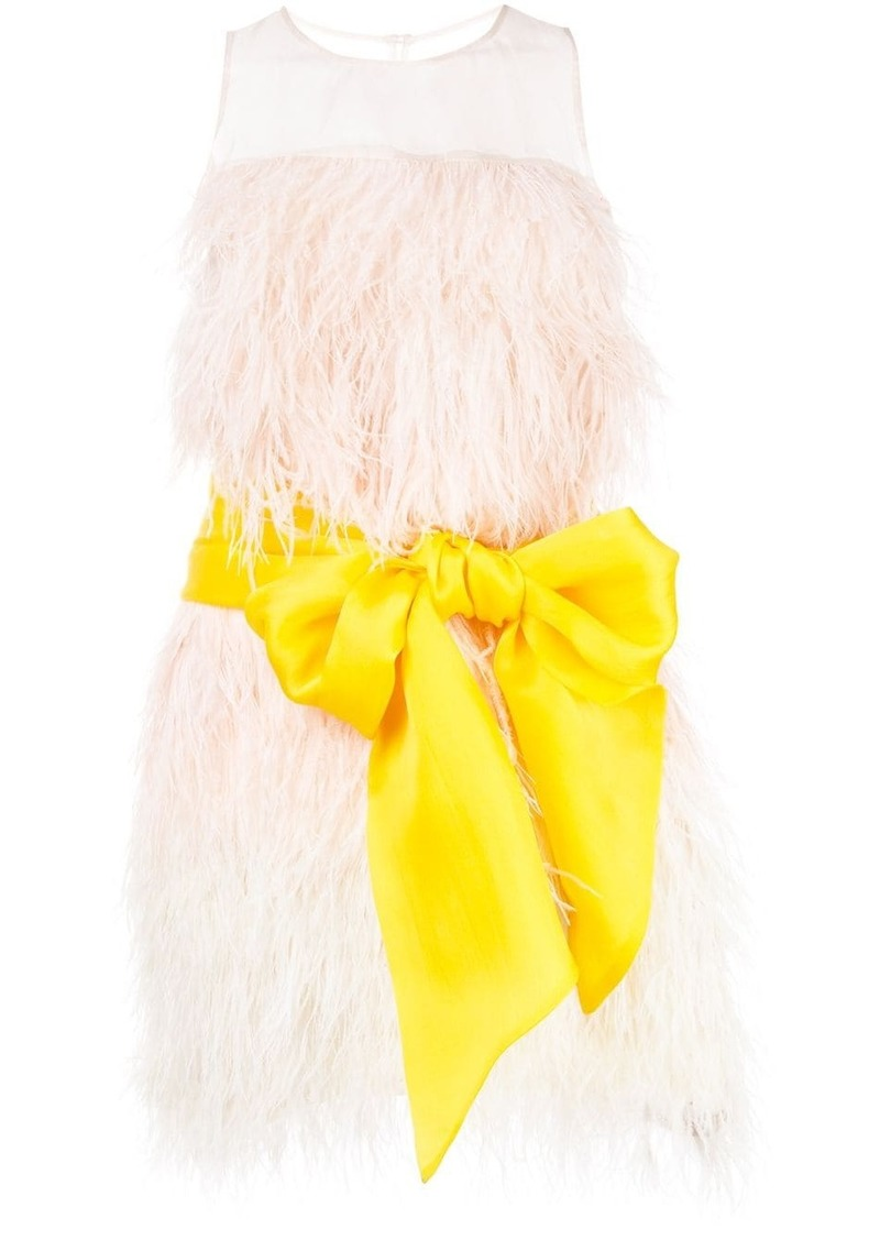 Cynthia Rowley feather party dress