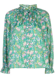 Cynthia Rowley Floral Cotton Waterfall Top