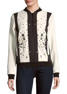 Cynthia Rowley Floral-Motif Bomber Jacket