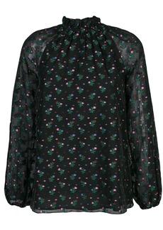 Cynthia Rowley florence smocked neck blouse