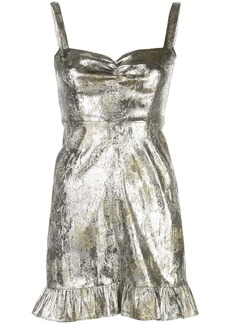 Cynthia Rowley Gold Coast Metallic Brocade Mini Dress