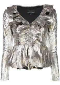 Cynthia Rowley Gold Coast metallic top