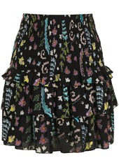 Cynthia Rowley Hazel smocked skirt