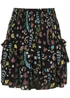 Cynthia Rowley Hazel smocked skirt