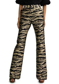 Cynthia Rowley Hensley Zebra Jacquard Flared Pants