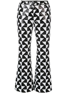 Cynthia Rowley illusion geometric sequin trousers