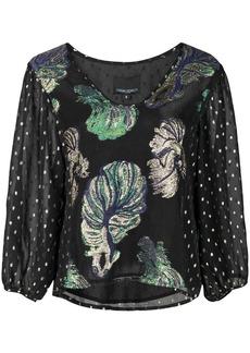 Cynthia Rowley Inverness metallic blouse