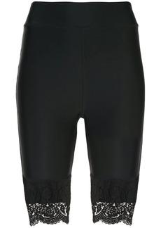 Cynthia Rowley Ives Lace Trim Biker Short