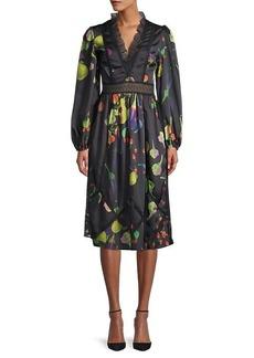 Cynthia Rowley Krystal Botanical Print Dress