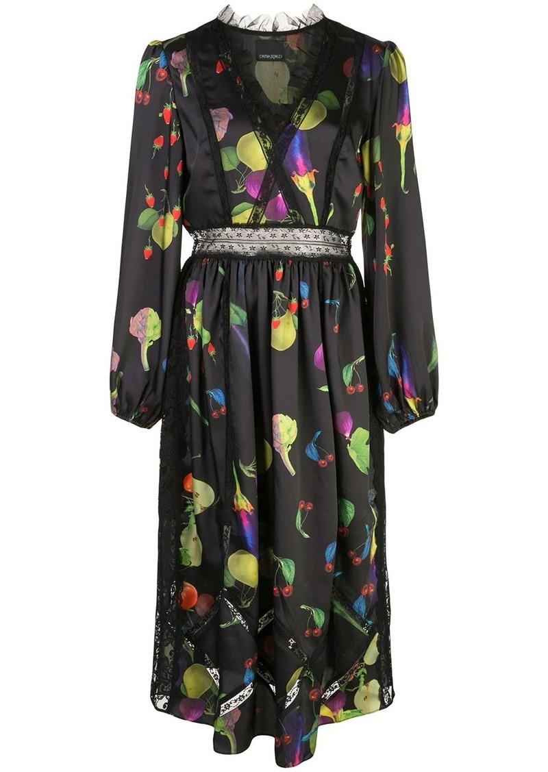 Cynthia Rowley Krystal fruit print dress