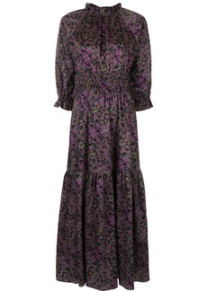 Cynthia Rowley Marbelle print smocked maxi dress