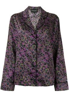 Cynthia Rowley marble-print pyjama shirt
